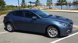 2014 Mazda 3 Maxx, Blue, Hatch back, one year factory left, safety Package, GPS, floor mat's, fog la...