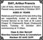 DAY, Arthur Francis