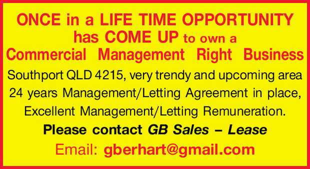 ONCE in a LIFE TIME OPPORTUNITY has COME UP.