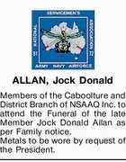 ALLAN, Jock Donald