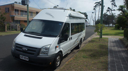 MOTORHOME 2011 Ford Transit, 2.4 diesel, man, 262,000 klms, 2 berth, show/toil, TV, A/C, m/wave,...