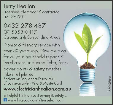 Caloundra & Surrounding Areas   Prompt & friendly service withover 30 years exp. Give...