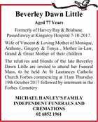 Beverley Dawn Little