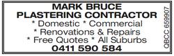 Mark Bruce Plastering Contractor   *Domestic   *Commercial   *Renovations & Repai...