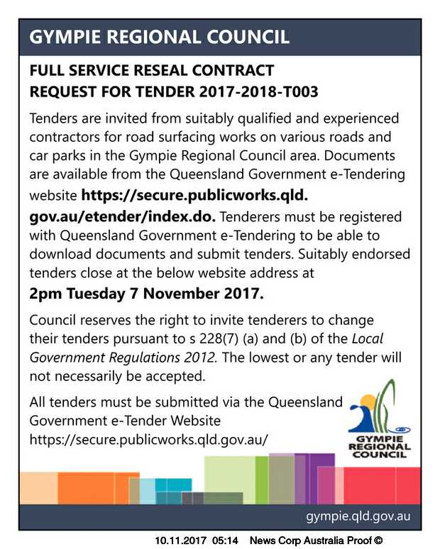 FULL SERVICE RESEAL CONTRACTREQUEST FOR TENDER 2017-2018-T003