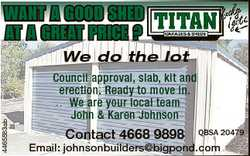WANT A GOOD SHED AT A GREAT PRICE ? 4465583ab We do the lot Council approval, slab, kit and erect...
