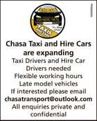 Taxi Drivers and Hire Car Drivers needed