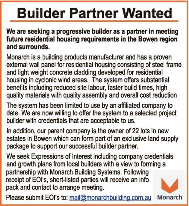 We are seeking a progressive builder as a partner in meeting future residential housing requireme...