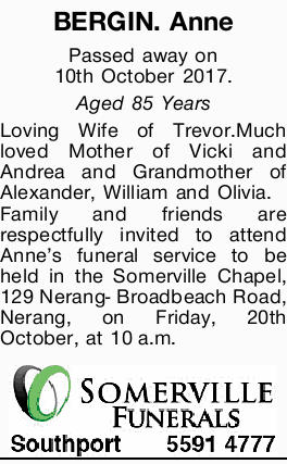 BERGIN. Anne