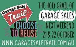 THE holy grail of GARAGE SALES NEXT WEEKEND 21 & 22 october   www.garagesaletrail.com.au...