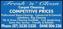 Fresh 'n' Clean Carpet Cleaning 