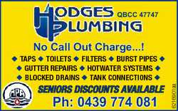 QBCC 47747 No Call Out Charge...! SENIORS DISCOUNTS AVAILABLE Ph: 0439 774 081 6216901aa u TAPS u...