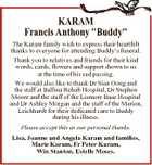 """KARAM Francis Anthony """"Buddy"""""""