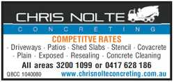 CHRIS NOLTE CONCRETING