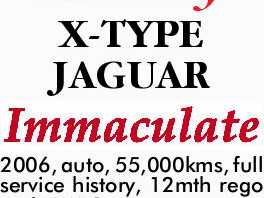 LUXURY X-TYPE JAGUAR
