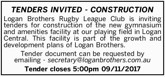 TENDERS INVITED - CONSTRUCTION