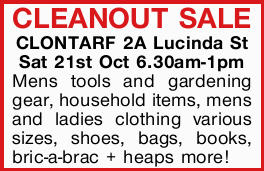 CLEANOUT SALE