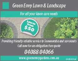 When you use Green Envy Lawn and Landscapes to do your lawns and landscape , you will truly be in...