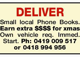 DELIVER Small local Phone Books