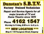 DUNSTAN'S S.B.T.V. SERVICES