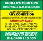 ADRIAN'S PICK UPS