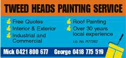 TWEED HEADS PAINTING SERVICE Free Quotes Interior & Exterior Industrial and Commercial Roof P...
