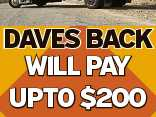 Daves Back WILL PAY UPTO $200 for any complete 6cyl car, going or not & more for others. Call Dave 0400 167 646 6229644aa