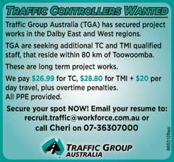 Traffic Group Australia (TGA) has secured project works in the Dalby East and West regions.   ...