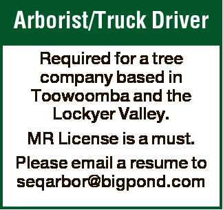 Arborist/Truck Driver