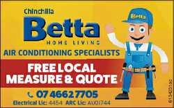 FREE LOCA AL MEASURE & QU UOTE 07 4662 770 05 Electrical Lic: 4454 ARC Lic: AU01744 6134231ac...