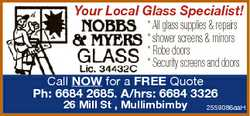 Your Local Glass Specialist! * All glass supplies & repairs * shower screens & mirrors *...