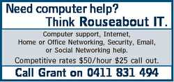Need computer help? Think Rouseabout IT.