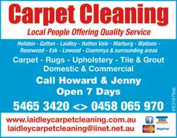 Carpet Cleaning Servicing Lockyer Valley & Surrounding Districts For all your Carpet, Rugs &a...