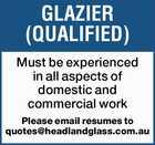 GLAZIER (QUALIFIED)