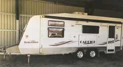 21ft 2005 Traveller Caprice, Q/S bed, show/toil, fridge/freezer, rev A/C, as new cond, kept under...