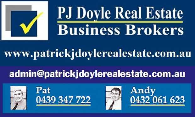 www.patrickjdoylerealestate.com.au   INDUSTRIAL SNACK BAR: Est 15 yrs Central Gold Coast T/O...