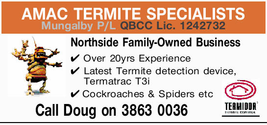 Northside Family-Owned Business.  Over 20yrs Experience.  Latest Termite detection...
