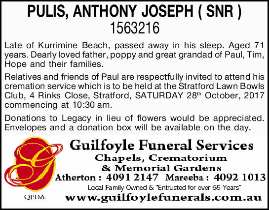 PULIS, ANTHONY JOSEPH ( SNR ) 