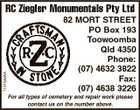 R C ZIEGLER MONUMENTALS P/L