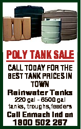 POLY TANK SALE CALL TODAY FOR THE BEST TANK PRICES IN TOWN Rainwater Tanks 220 gal - 6500 gal tan...