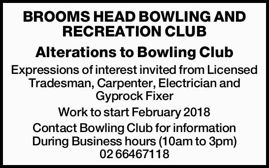 Alterations to Bowling Club