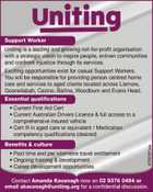 Support Worker Wanted