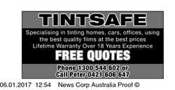 Specialising in tinting homes, cars, offices, using the best quality films at the best prices  ...