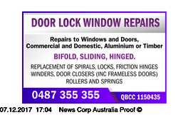 Repairs to Windows and Doors