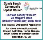 SANDY BEACH BAPTIST CHURCH