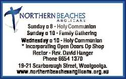 Sunday 8 - Holy Communion Sunday 10 - Family Gathering Wednesday 10 - Holy Communion * Incorporat...