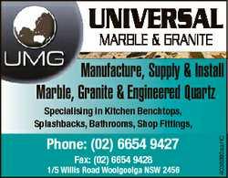 UNIVERSAL MARBLE & GRANITE Manufacture, Supply & Install Marble, Granite & Engineered Qu...