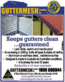 Trading Co Keeps gutters clean ...guaranteed 6087996ab GUTTERMESH * Leaf, birds, vermin and mozzi...