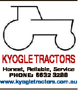 KYOGLE TRACTORS Honest, Reliable, Service PHONE: 6632 3288 www.kyogletractors.com.au
