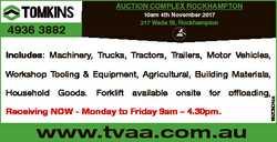 AUCTION COMPLEX ROCKHAMPTON 4936 3882 10am 4th November 2017 217 Wade St, Rockhampton Includes: Mach...